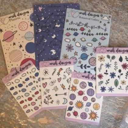 Botanical Galaxy Sticker Bundles