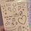 Thumbnail: Orange Classic Doodles Large Sheet