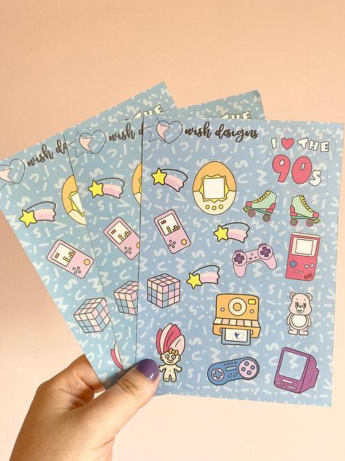 Retro Party Large Sticker Sheet