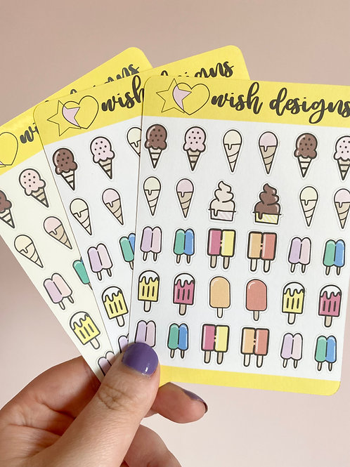 Ice Lolly Sticker Sheet