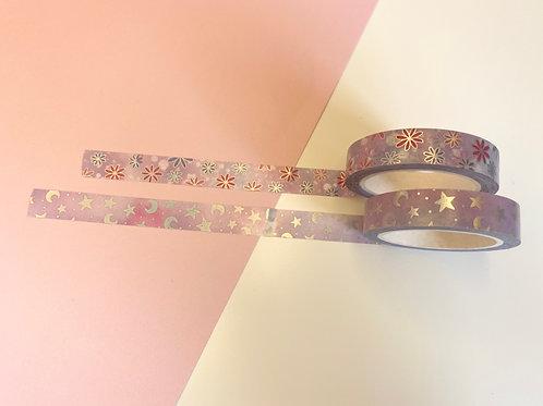 10mm Purple Holographic Washi Tape Set of 2