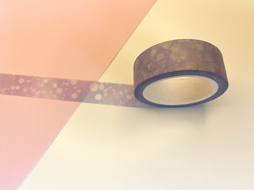 15mm Purple Star Splatter Washi Tape