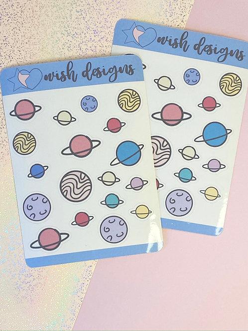 Planets 2.0 Sticker Sheet