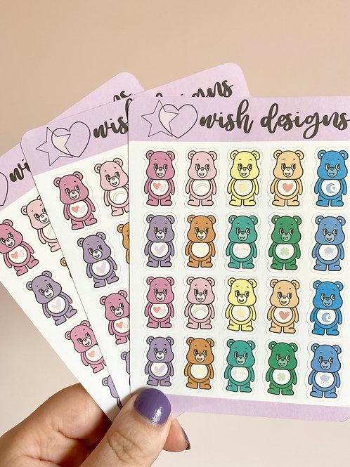 Care Bear Sticker Sheet