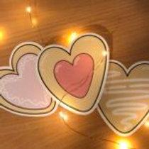Heart Sugar Cookies Large Sticker Pack