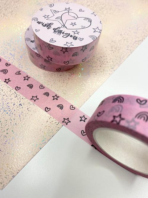 15mm Pink Doodles Washi Tape