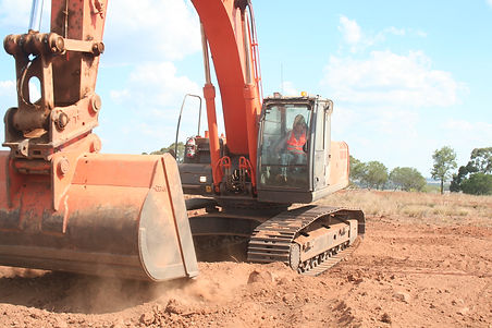 excavator machine on dirt