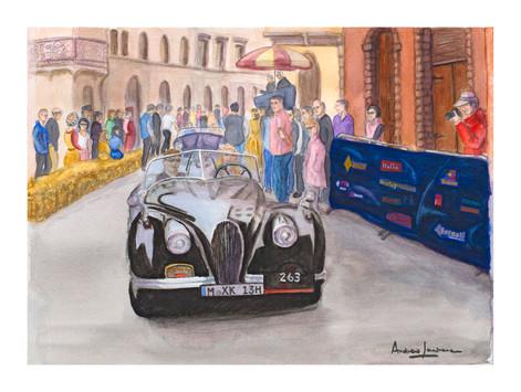 Jaguar XK 120 in the Mille Miglia