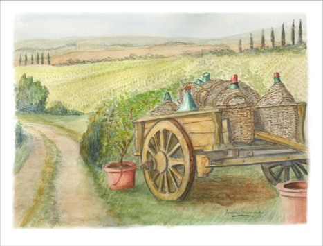 Tuscan Wine Cart