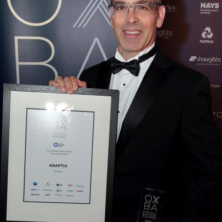 CSO, Dr Gil Travish with award