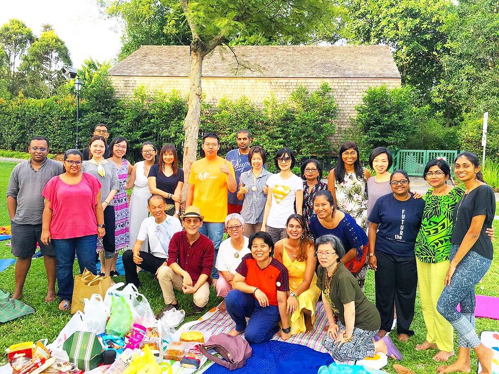 Healing meditation at Singapore Botanic Gardens