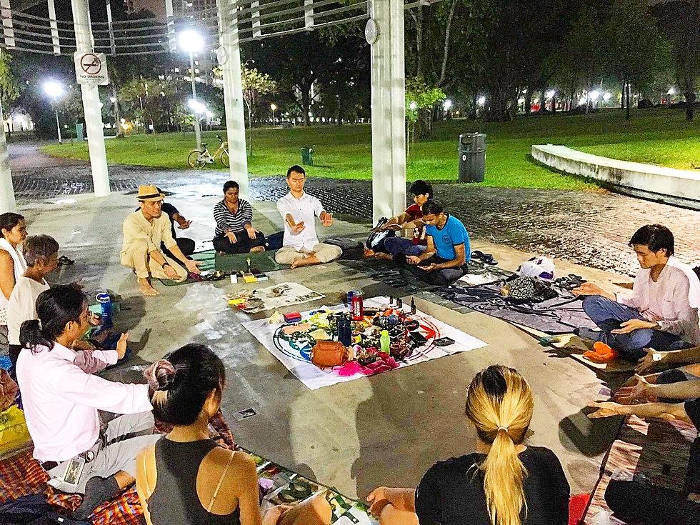 Spring Equinox outdoor healing meditation in Singapore