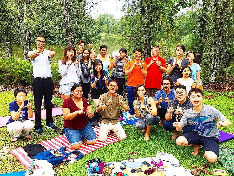 11/11 Healing meditation at Singapore Botanic Gardens