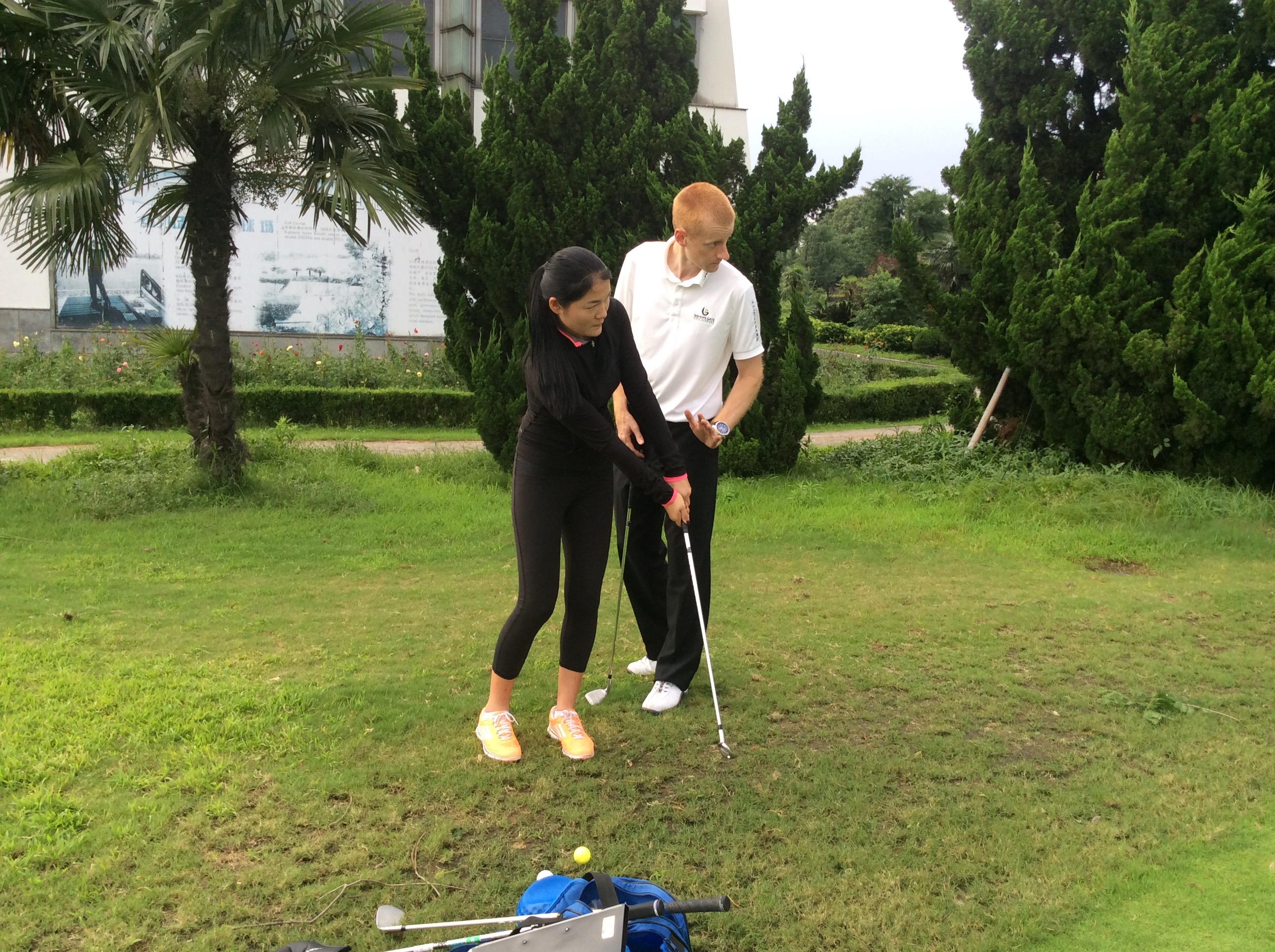 Working with Liu Jiao (CLPGA Tour)