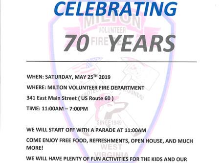 MVFD 70th Celebration - May 25th