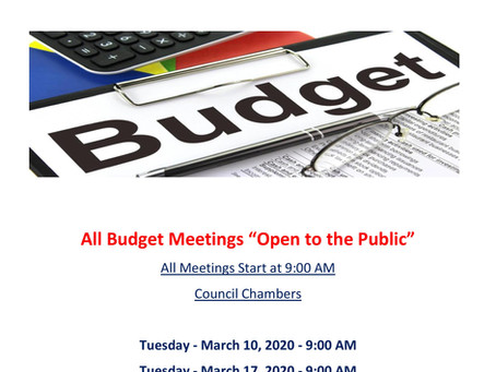 2020-2021 Budget Meetings