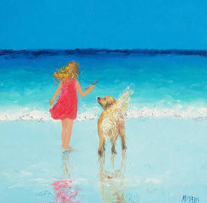 beach-painting-sunkissed-hair-by-jan-mat