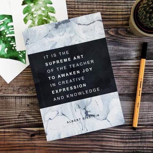 Bookishly 'SUPREME ART OF THE TEACHER' Einstein journal