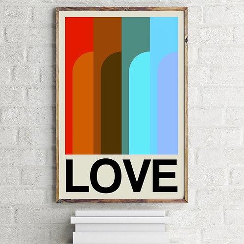 Frances Collett LOVE Art Print