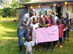 The children thank their generous donors for making their first Christmas celebration possible.