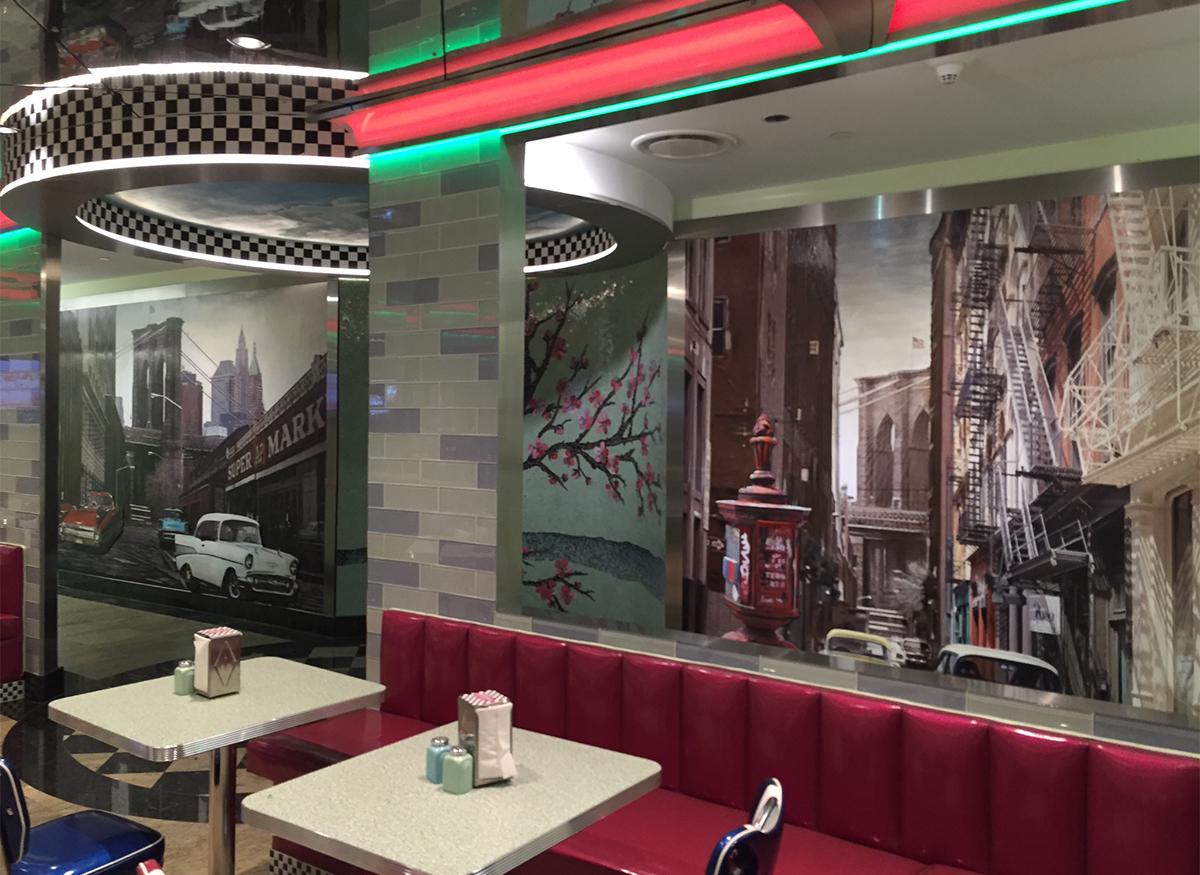 Diner Mural