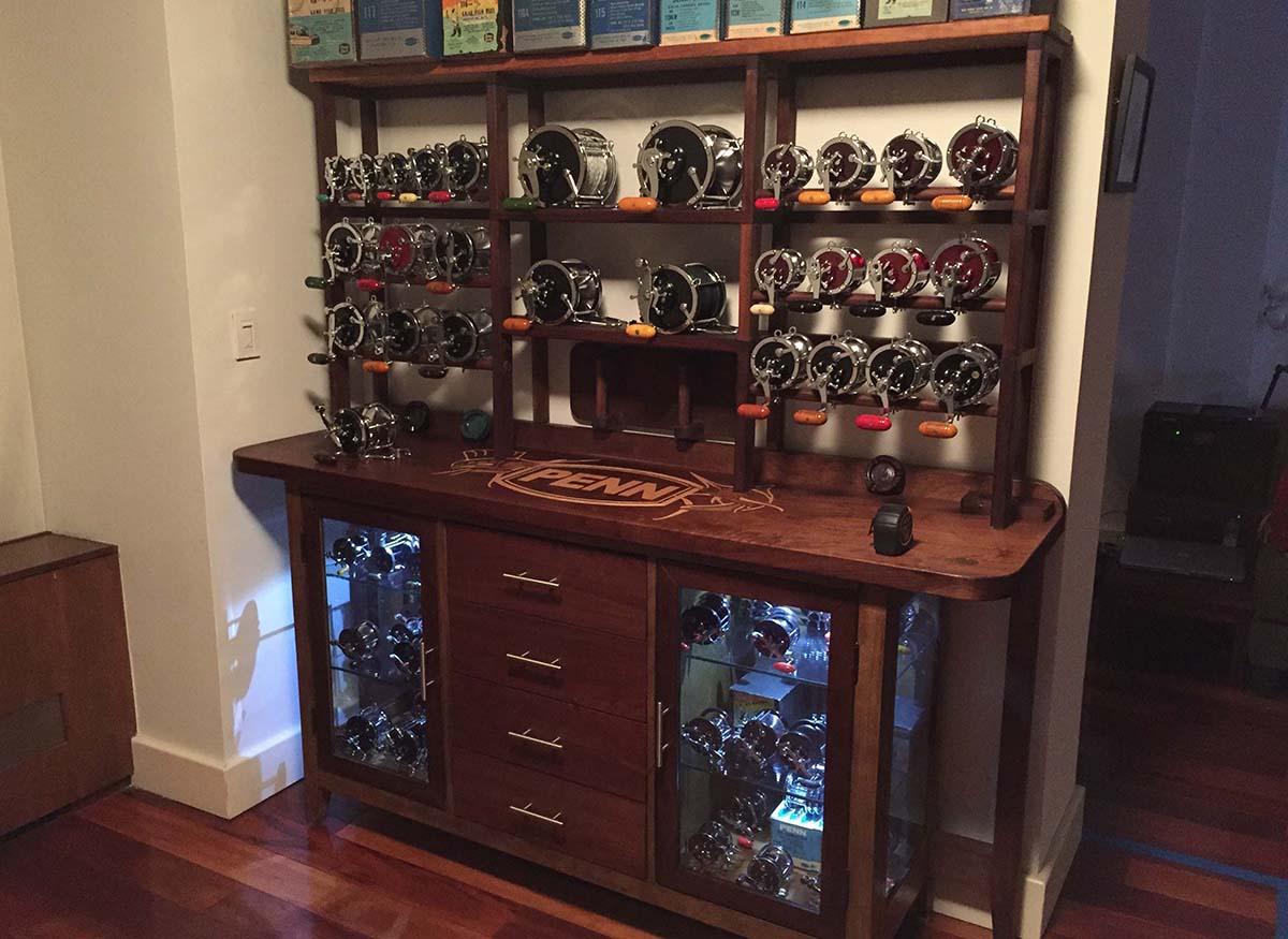 Vintage PENN Reel Cabinet