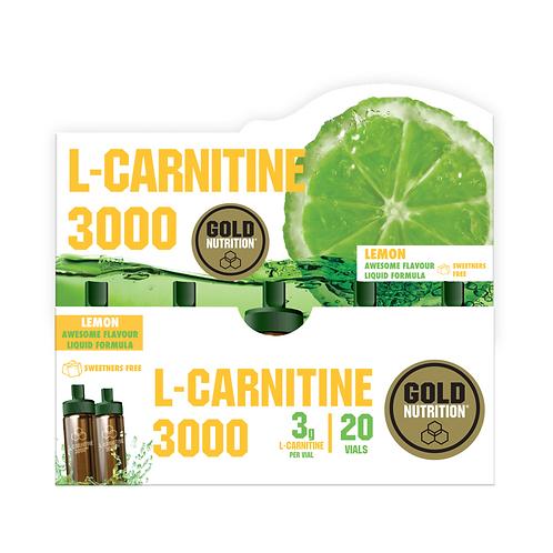 L-CARNITINE 3000 MG LEMON - 20 VIALS GOLDNUTRITION