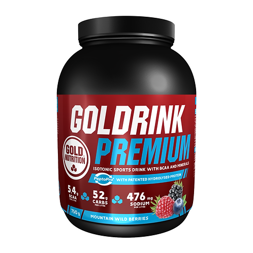GOLD DRINK PREMIUM SABOR FRUTOS SILVESTRES – 750G – GOLDNUTRITION