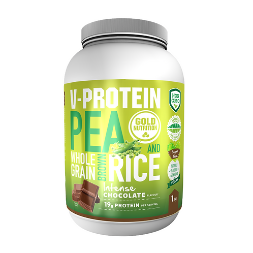 V-PROTEIN WHOLE GRAIN PEA & RICE CHOCOLATE – 1 KG – GOLDNUTRITION