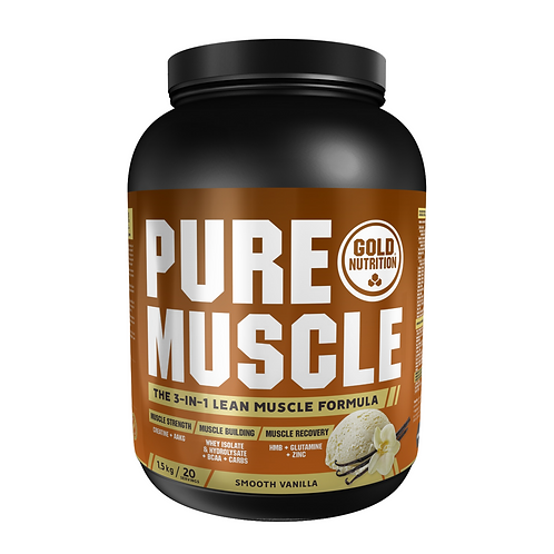PURE MUSCLE VANILLA - 1,5 KG - GOLDNUTRITION