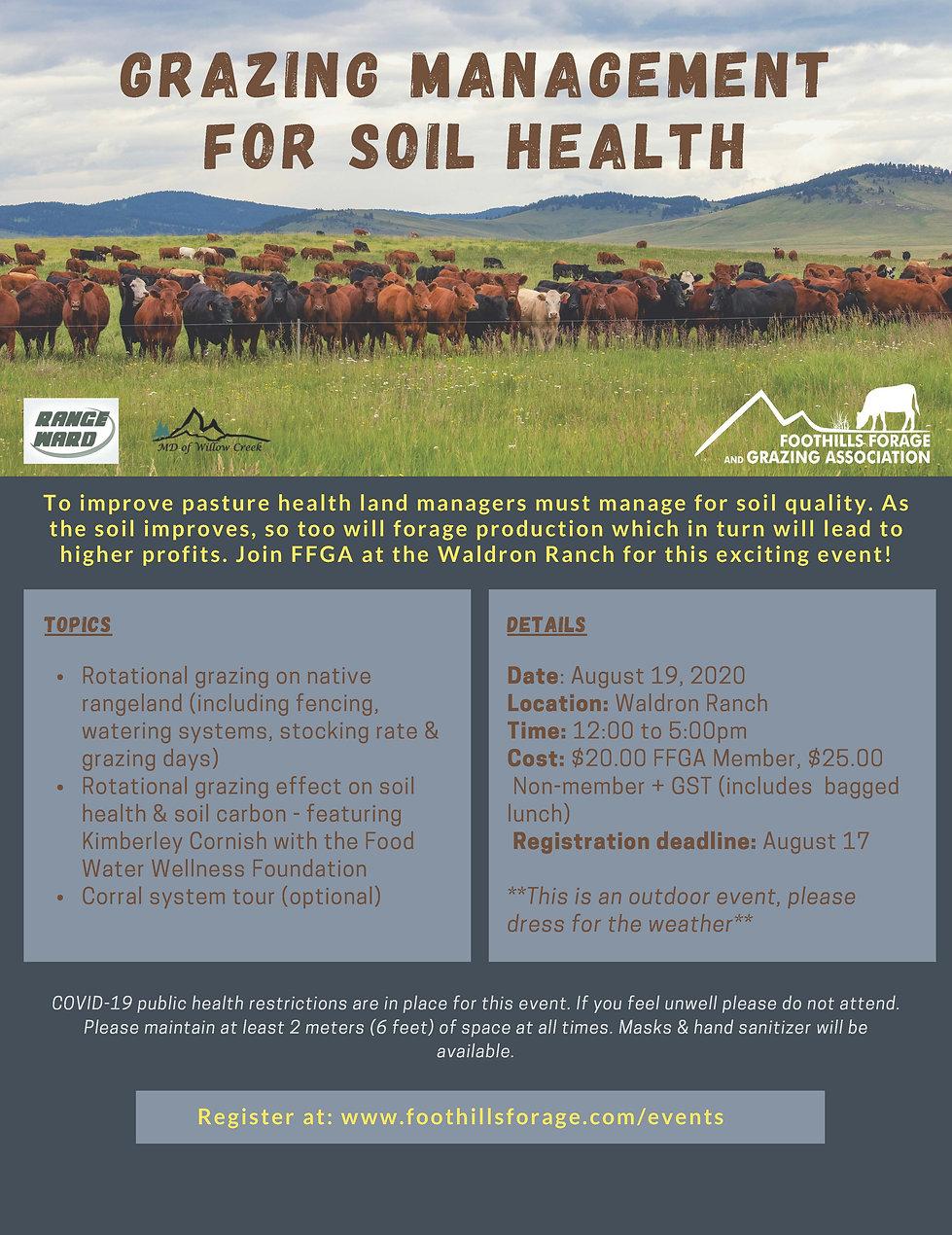 Grazing Management for Soil Health Poste