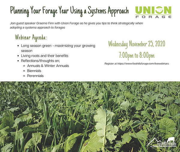 Planning Your Forage Year Using a System