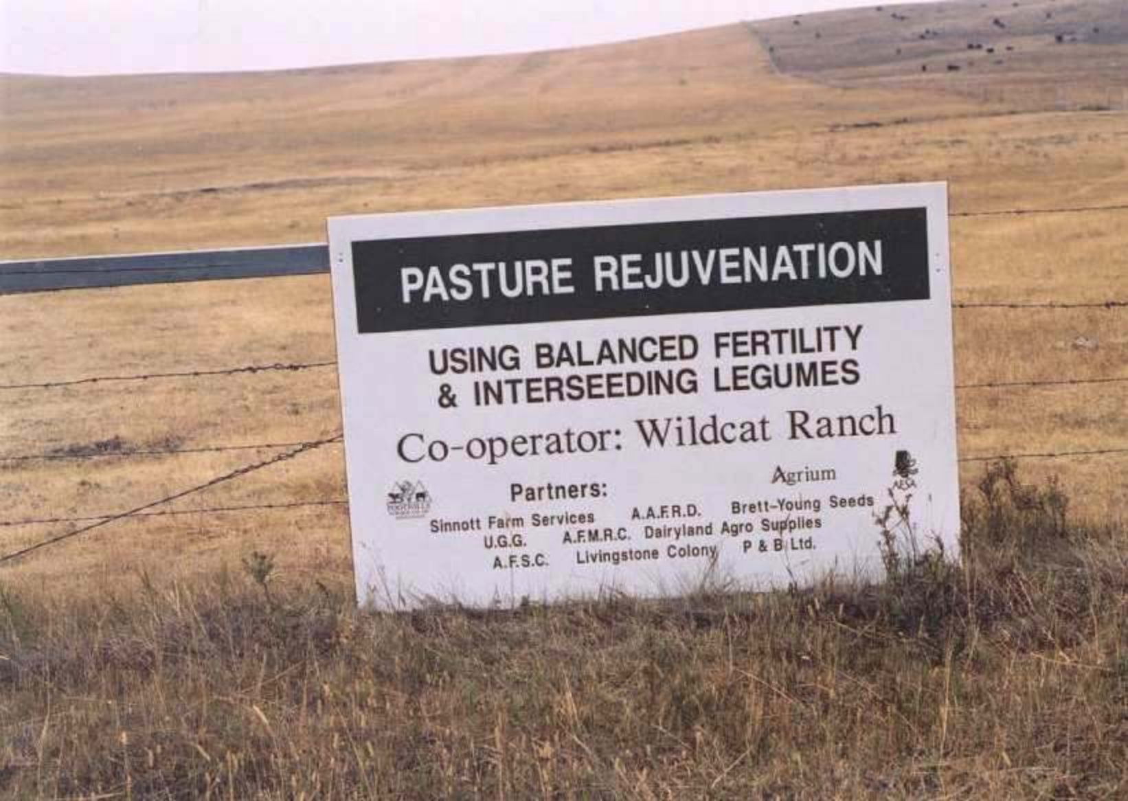 Pasture Sign