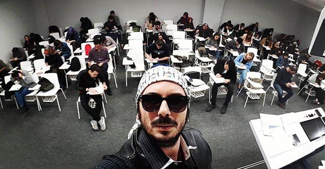 #Vize sınavı  yoklama selfisi #özeleğiti