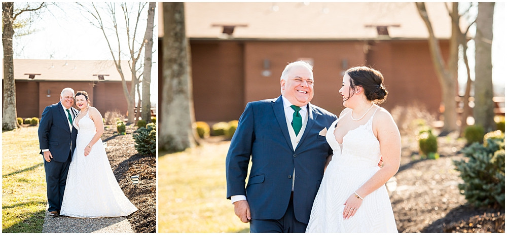 bride and her dad, Innsbrook resort