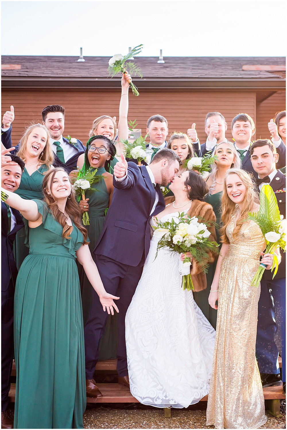 bridal party together at Innsbrook Resort