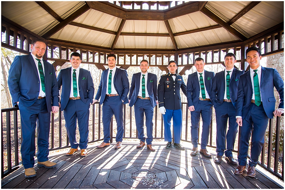 groomsmen at Innsbrook resort