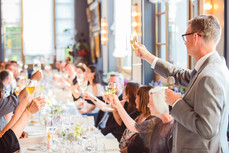 Hannah and Thomas Swiss wedding. Switzerland Wedding in Pontresina. Dream Wedding. Mountaintop wedding. Celerina chapel. Romantic international wedding. First glance at the Hotel Walther in Pontresina. The most perfect toast by the bride's father.