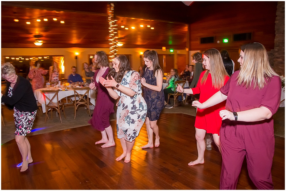 line dancing at reception
