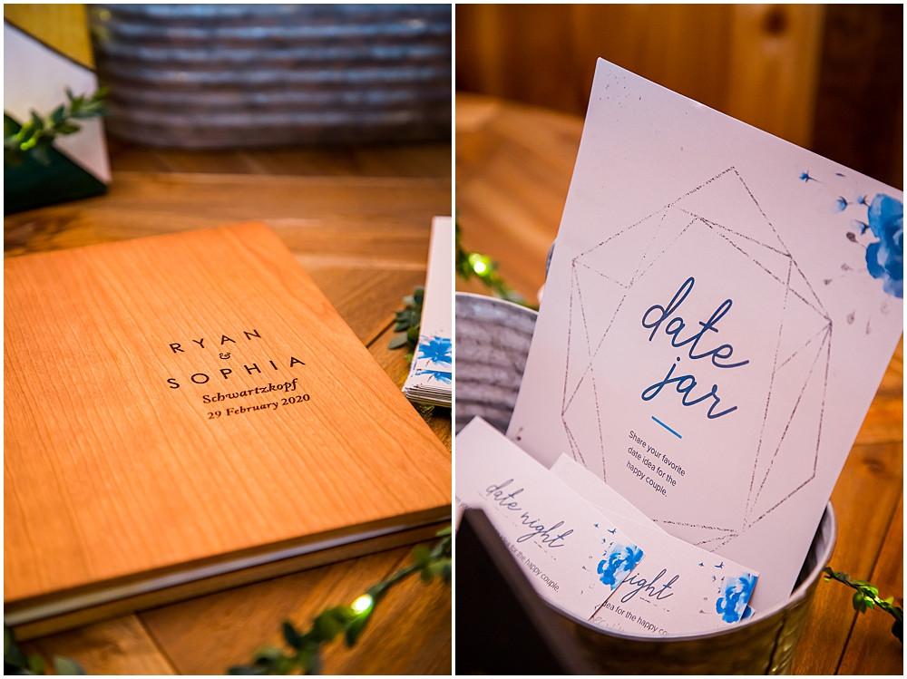 guest book, date jar