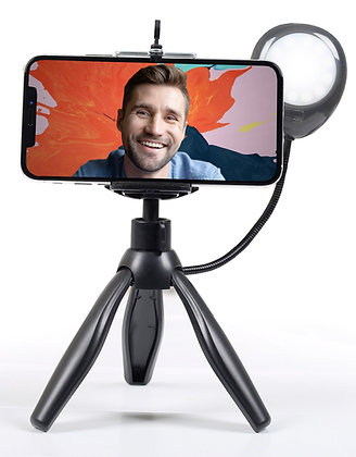 Portable Vlogging Light + Tripod