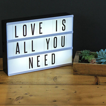 Create your own messages Light Box