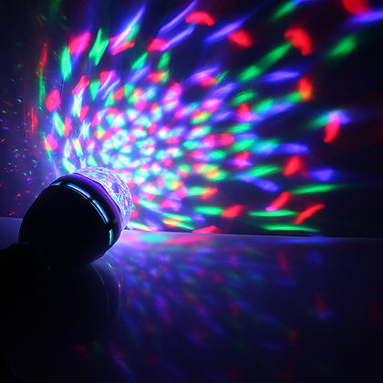 Disco Bulb colourful party lights on a wall