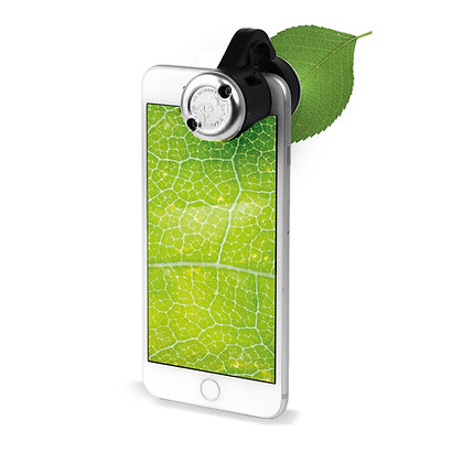 Smartphone Microscope for smartphones up close on leaf
