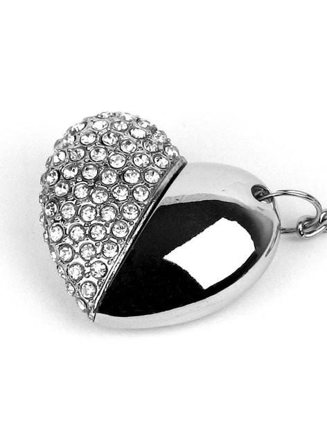 USB Diamante Heart