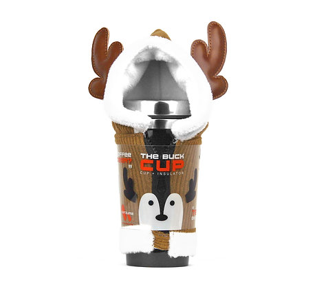 Insulated Buck Cup tea and coffee deer hood sleeve