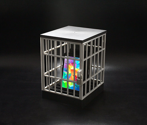 Phone locked away in Phone jail