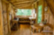 Wooden craftsmanship Mimi's Tree Yurt kitchen