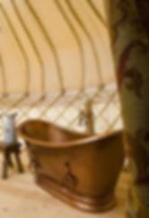 Copper bathtub Mimi's Tree Yurt