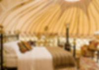 Mimi's Tree Yurt bedroom Boteti Getaways